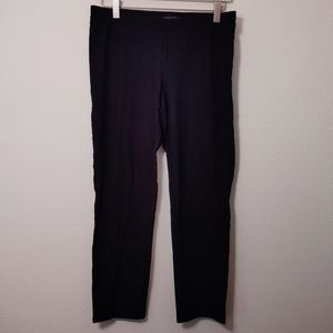 Eileen Fisher Black Crop Pull on Pant S